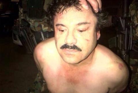 Foto del hombre detenido, indentificado como 'El Chapo' Guzmán