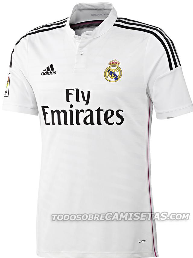 2b02a47310d47 Oficial  Nuevos uniformes Adidas blanco y rosa del Real Madrid ...