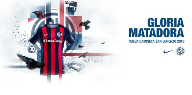 camiseta san lorenzo 2018