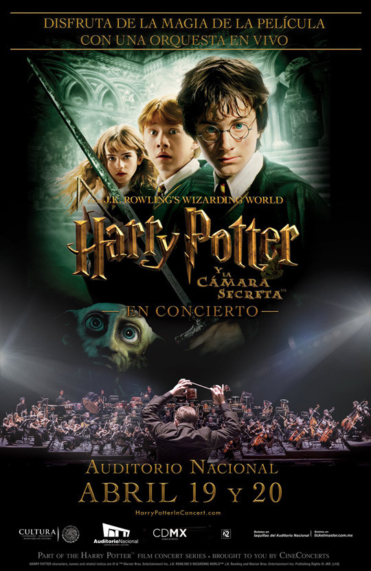 harry potter auditorio nacional mexico 2018