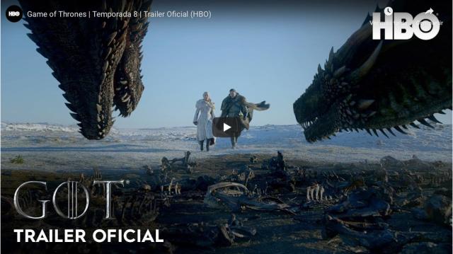 Primer trailer oficial de la octava temporada de Game of Thrones.